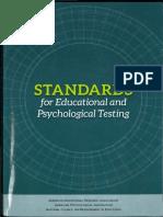 AERA, APA, NCME Standards - Reliability