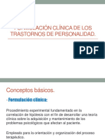 Formulacion Clínica de Los Trastornos de Personalidad 28 de Marzo