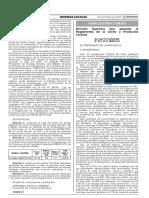 Decreto supremo que aprueba el Reglamento de La Leche y Productos Lácteos