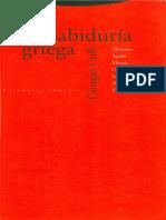 Colli Giorgio - La Sabiduria Griega