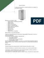 Tipuri de Boilere Si Schimbatoare de Caldura