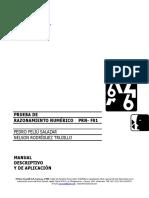 Manual de Aplicación Razonamiento Numérico F-01