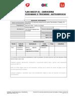 CA HA 001 02 Plan HACCP Carnicería Vs1