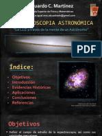 ESPECTROSCOPÍA ASTRONÓMICA