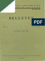 Şerif Baştav-Sabir Türkleri-Belleten-1941