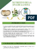 Valor Nutritivo de La Proteina de La Soyaaa