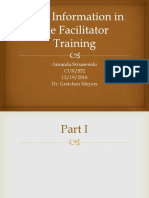 vital information in the facilitator training