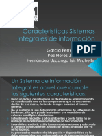 Características Sistemas Integrales de Información