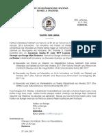 Press Release - Maoni Ya Wadau Kuhusu Miswada 3 Ya Sheria