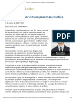 ConJur - O Custeio Das Perícias No Processo Coletivo Ambiental