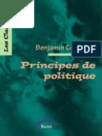 Benjamin Constant-Principes de Politique Applicables à Tous Les Gouvernements-Numilog