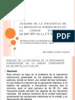 Análisis de La Influencia de La Resonancia Subsincrona