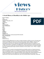 Reviews in History - A Social History of Disability in the Middle Ages - 2013-12-05