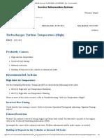 Turbocharger Turbine Temperature (High)
