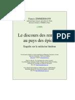 Zimmermann F - Le Discours Des Remèdes Au Pays Des Épices