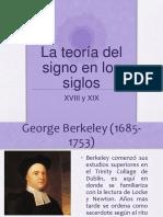 la teoría del signo en los siglos XVIII y XIX