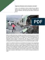 Efectos Tributarios de La Declaratoria de Emergencia Por Desastres Naturales