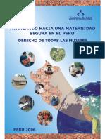 MINSA Avanzando Maternidad Segura Peru