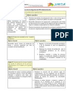 Líneas de Investigación Del PNF Administración