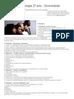 Exercícios Sociologia 2º Ano - Diversidade _ Café Com Sociologia