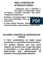 Calores Latentes de Substâncias Puras