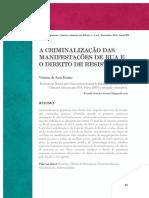 Criminalização Das Manifestações - Romão, V