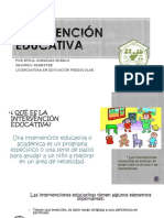 Intervención Educativa