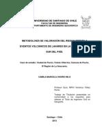 Metodología de Valoración Del Riesgo Frente a Eventos Volcánicos de Lahares en La Zona Centrosur Del País