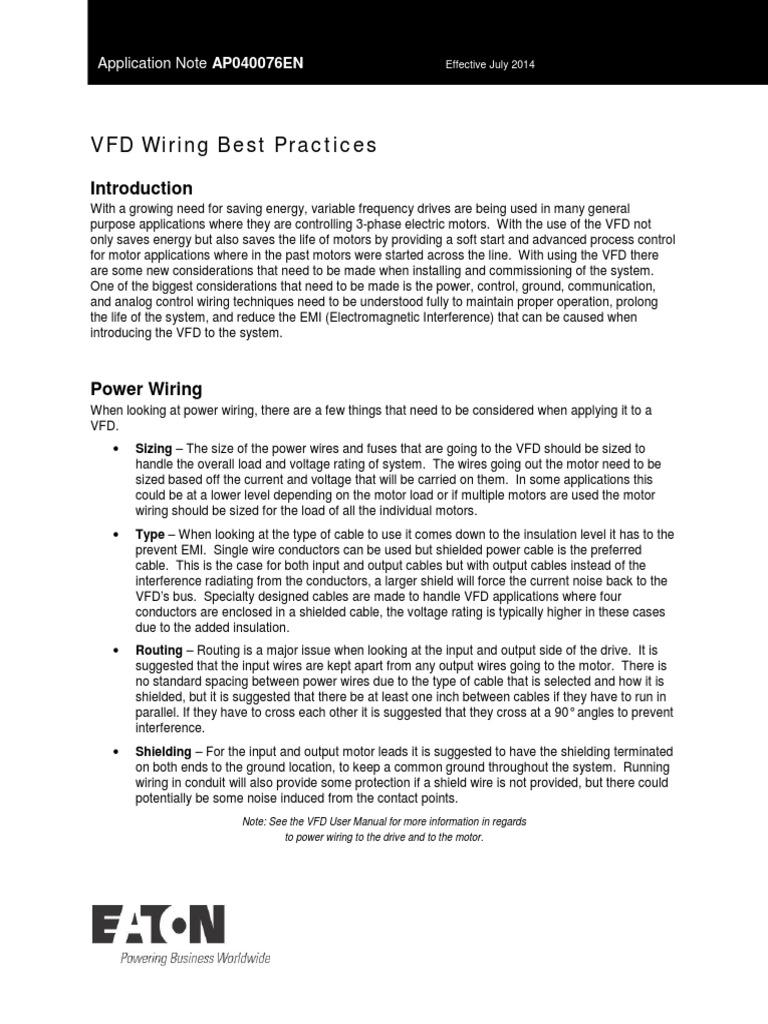 Fantastic Vfd Wiring Best Practices Ap040076En Pdf Cable Electrical Wiring Wiring Cloud Pendufoxcilixyz