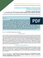 Iaetsd-jaras-An Efficient Color Space Conversion Using Xilinx