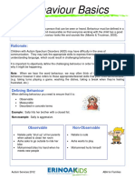 ABA for Families Behaviour Basics