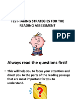Test-taking Strategies for the Ohio Achievement Reading Assessment Ppt