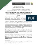 NP168- LUIS GAMARRA ANUNCIA LANZAMIENTO DE PAQUETE DE 40 OBRAS DESCENTRALIZADAS EN LAS 20 PROVINCIAS DE ÁNCASH (2).docx