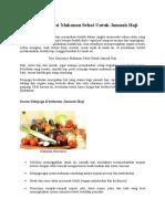 Tips Makanan Sehat Jemaah Haji