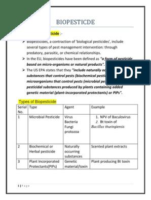 BIOPESTICDE | Pesticide | Microorganism