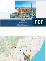 Barcelona Map of Attractions