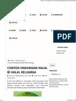 Contoh Undangan Halal Bi Halal Keluarga