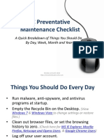 Pc Preventative Maintenance Checklist 100331160529 Phpapp02