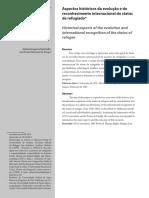 BARICHELLO - Aspectos Históricos Da Evolução e Do Reconhecimento Internacional Do Status de REFUGIADO