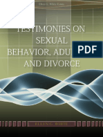 Testimonies on Sexual Behavior Adultery and Divorce