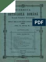 Biserica Orthodoxă Romană Jurnal Periodic Eclesiastic, 25, nr. 01, aprilie 1901.pdf