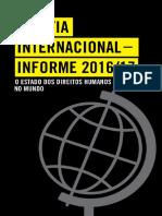 Anistia Internacional - Informe 2016_2017