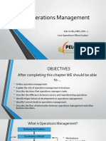 Operations Management Chapter 1 1