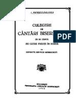 Culegere de Cantari Bisericesti - I Popescu Pasarea - 1940