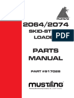Mustang Skid steer 2064/2074 parts manual