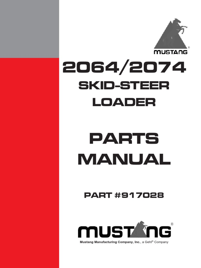 Mustang Skid steer 2064/2074 parts manual | Screw