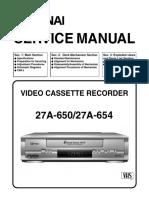 Funai 27a-650-654 Service Manual