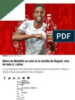 _Metro de Medellín, envidia de Bogotá y de A. Latina - Pulzo.com