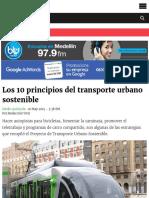 _Los 10 principios del transporte urbano sostenible | ELESPECTADOR.COM