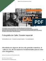 Fotografía de Calle_ Dossier especial